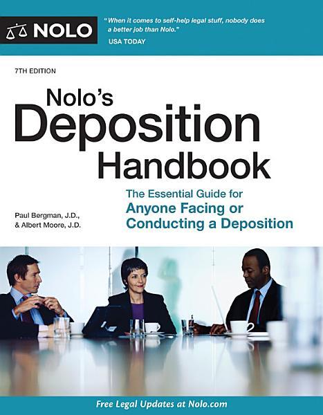 Nolo s Deposition Handbook PDF