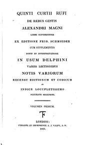 Quinti Curtii Rufi De rebus gestis Alexandri Magni: Volume 3