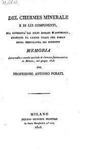 Del Chermes Minerale E Di Lui Componenti ...