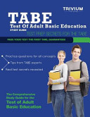 TABE Test of Adult Basic Education Study Guide PDF
