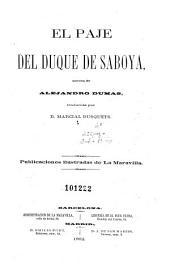 El Paje del duque de Saboya: novela