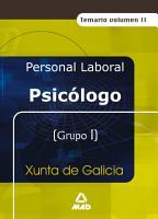 Psicologo de la Xunta de Galicia  Temario Volumen Ii Ebook PDF