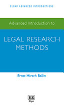 Advanced Introduction to Legal Research Methods
