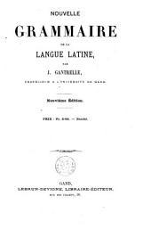 Nouvelle grammaire de la langue latine