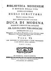 Biblioteca modenese: Volume 6,Parte 1