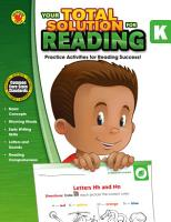 Your Total Solution For Reading Grade K
