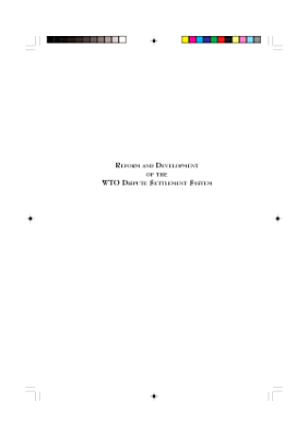 Reform and Development of the WTO Dispute Settlement System PDF