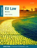 EU Law Directions PDF