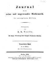 Journal für die reine und angewandte Mathematik: Band 19