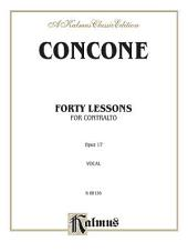 Forty Lessons, Op. 17: Vocal Method