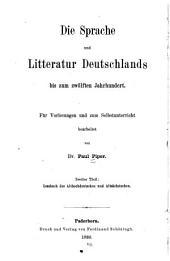 Th. Lesebuch des Althochdeutschen und Altsächsischen