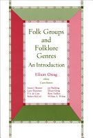 Folk Groups And Folklore Genres PDF