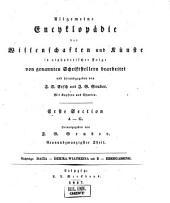 Allgemeine Encyclopädie der Wissenschaften und Künste in alphabetischer Folge: Erster Section: A-G, Band 29