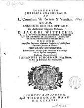 Disputatio juridica inauguralis ad L. Corneliam de sicariis & veneficis: Volume 1