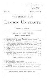 Journal of the Scientific Laboratories of Denison University: Volume 4
