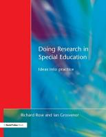 Doing Research in Special Education PDF