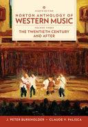 Norton Anthology of Western Music, 8th Edition Volume 3 Reg Card