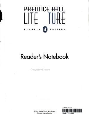Prentice Hall Literature Penguin Edition World Masterpieces Readers Notebook Grade 12 2007c PDF