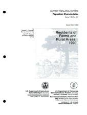 Residents of farms and rural areas: Issue 457