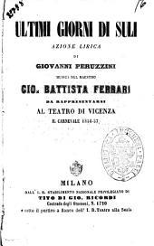 Ultimi giorni di Suli azione lirica di Giovanni Peruzzini