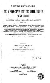 Nouveau dictionnaire de médecine et de chirurgie pratiques: Volume32