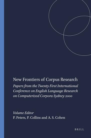 New Frontiers of Corpus Research PDF