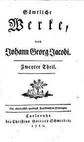 Sämtliche Werke: Zweyter Theil, Band 105
