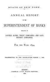 Annual Report ... Relative to Savings Banks [etc.]