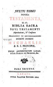 Svetu pismu noviga testamenta id est Biblia sacra novi testamenti: Pars 2