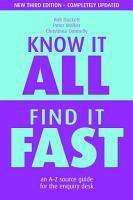 Know it All  Find it Fast PDF