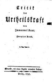 Kritik der Urteilskraft: Band 2