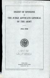 Digest Of Opinions Of The Judge Advocate General Of The Army Book PDF