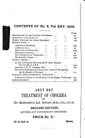 The Calcutta Journal of Medicine: A Monthly Record of the Medical Auxiliary Sciences, Volume 25, Issue 3