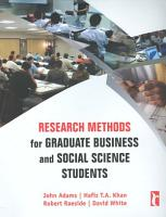 Research Methods for Graduate Business and Social Science Students PDF