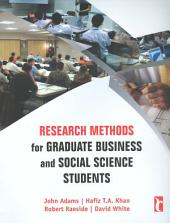 Research Methods for Graduate Business and Social Science Students