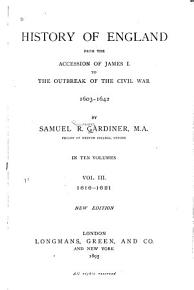 History of England from the Accession of James I  to the Outbreak of the Civil War  1603 1642  1616 1621 PDF