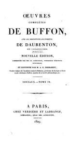 Oeuvres complètes de Buffon: avec les descriptions anatomiques de Daubenton, son collaborateur, Volume38,Partie9