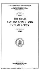 Tide Tables, Central and Western Pacific Ocean and Indian Ocean