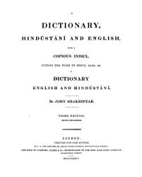 A Dictionary Hindustani And English Book PDF