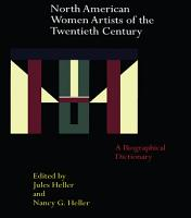 North American Women Artists of the Twentieth Century PDF
