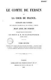 Extrait des papiers de Jean Axel Comte de Fersen