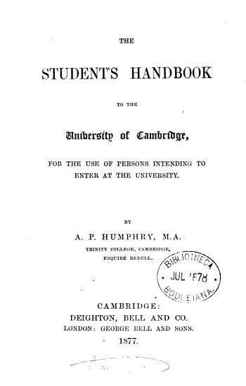 The student s guide to the University of Cambridge PDF