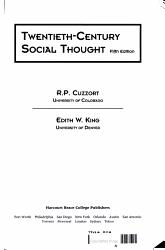 Twentieth century Social Thought PDF
