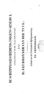 De scheppingsgeschiedenis: volgens Genesis I, overgebragt in de taal der Bataks