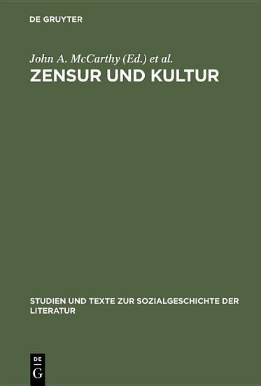 Zensur und Kultur PDF