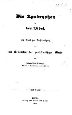 Die Apokryphen in der Bibel PDF