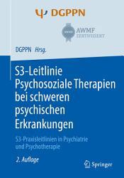 S3 Leitlinie Psychosoziale Therapien bei schweren psychischen Erkrankungen PDF