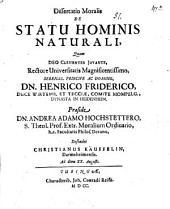 Dissertatio moralis de statu hominis naturali