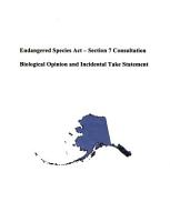 Endangered Species Act  Section 7 Consultation PDF