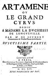 Artamène ou le grand Cyrus: dédié à madame la duchesse de Longueville par Mr de Scudéry, gouverneur de Nostre Dame de la Garde, Volume8